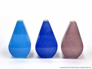 """Cyan, Blue, and Violet Vases""