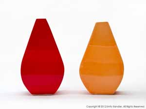 """Red and Orange Vases""